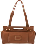 """Luxury Accessories:Bags, Delvaux Brown Leather Shoulder Bag. Condition: 2. 12""""Width x 6"""" Height x 5"""" Depth. ..."""