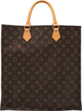 "Luxury Accessories:Bags, Louis Vuitton Brown Monogram Coated Canvas Sac Plat Bag. Condition: 2. 14"" Width x 15"" Height x 3.5"" Depth. ..."