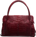 "Luxury Accessories:Bags, Nancy Gonzalez Red Crocodile Shoulder Bag. Condition: 3. 14"" Width x 9"" Height x 7"" Depth. ..."