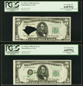 Fr. 1962-G $5 1950A Federal Reserve Notes. Two Consecutive Examples. PCGS Very Choice New 64PPQ. ... (Total: 2)