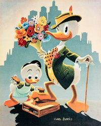 Carl Barks Dude for a Day: A Set of Progressive Proofs Signed Limited Edition Lithograph Print Boxed Set #1/5 (Ano