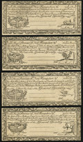 Colonial Notes:New Hampshire, Cohen Reprints New Hampshire April 3, 1755 Redated June 1, 1756 1s; 3s; 3s9d; 5s Choice About New.. ... (Total: 4 notes)
