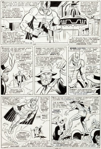 Werner Roth and Dick Ayers X-Men #24 Story Page 17 Original Art with Stan Lee Signature (Mar