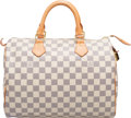 "Luxury Accessories:Bags, Louis Vuitton Damier Azur Coated Canvas Speedy 30 Bag. Condition: 2. 12"" Width x 8"" Height x 6.5"" Depth. ..."