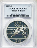 Modern Issues, 1995-P $1 Track & Field Silver Dollar PR70 Deep Cameo PCGS. PCGS Population: (54). NGC Census: (45). CDN: $300 Whsle. Bid f...