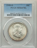 1948-D 50C MS66 Full Bell Lines PCGS. PCGS Population: (238/8). NGC Census: (46/3). CDN: $300 Whsle. Bid for problem-fre...