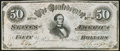 Confederate Notes:1864 Issues, CT66 Counterfeit $50 1864 Extremely Fine.. ...