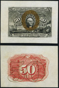 Fractional Currency:Second Issue, Fr. 1314SP 50¢ Wide Margin Pair Second Issue Choice New.. ... (Total: 2 notes)