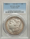 Morgan Dollars, 1886-S/S $1 VAM-2, AU50 PCGS. A Top 100 Variety. PCGS Population: (6/137). NGC Census: (0/149). AU50....
