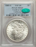 1885-S/S $1 VAM-6 MS64 PCGS. CAC. A Top 100 Variety. Ex: California. PCGS Population: (19/6). NGC Census: (6/1). MS64...