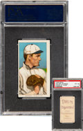 Baseball Cards:Singles (Pre-1930), 1909-11 T206 Drum Walter Johnson (Hands At Chest) PSA VG-EX 4 - Only Two PSA-Graded Examples! ...