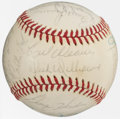 Autographs:Baseballs, 1974 American League All-Star Team Signed Baseball with Thurman Munson (26 Signatures)....