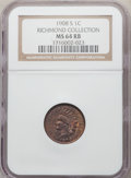 Indian Cents: , 1908-S 1C MS64 Red and Brown NGC. Ex: Richmond Collection. NGC Census: (259/137). PCGS Population: (500/189). CDN: $625 Whs...