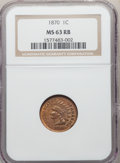 1870 1C MS63 Red and Brown NGC. NGC Census: (45/206). PCGS Population: (110/367). CDN: $800 Whsle. Bid for problem-free...