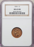 1894 1C MS65 Red and Brown NGC. NGC Census: (66/4). PCGS Population: (44/5). CDN: $500 Whsle. Bid for problem-free NGC/P...