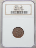 1885 1C MS65 Brown NGC. NGC Census: (62/15). PCGS Population: (38/7). CDN: $330 Whsle. Bid for problem-free NGC/PCGS MS6...