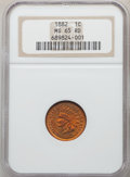 1882 1C MS65 Red NGC. NGC Census: (29/5). PCGS Population: (87/26). CDN: $850 Whsle. Bid for problem-free NGC/PCGS MS65...