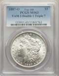 Morgan Dollars, 1887-O $1 VAM-2, Doubled 1, Tripled 7 MS63 PCGS. A Top 100 Variety. PCGS Population: (40/10). NGC Census: (49/7). MS63....