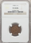 1908-S 1C VF20 NGC. NGC Census: (173/2415). PCGS Population: (302/3319). CDN: $110 Whsle. Bid for problem-free NGC/PCGS...