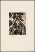 """Movie Posters:Miscellaneous, Brunnhild by Gaston Bussière (1901). Very Fine-. Signed Etching Print on Paper (12.5"""" X 18.5""""). Miscellaneous.. ..."""
