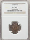 1908-S 1C Fine 15 NGC. NGC Census: (126/2588). PCGS Population: (250/3621). CDN: $105 Whsle. Bid for problem-free NGC/PC...