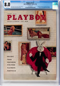 Magazines:Vintage, Playboy V5#1 (HMH Publishing, 1958) CGC VF 8.0 White pages....