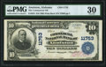 National Bank Notes:Alabama, Anniston, AL - $10 1902 Plain Back Fr. 633 The Commercial NB Ch. # 11753 PMG Very Fine 30.. ...
