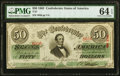 Confederate Notes:1863 Issues, T57 $50 1863 PMG Choice Uncirculated 64 EPQ.. ...
