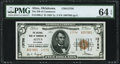 National Bank Notes:Oklahoma, Altus, OK - $5 1929 Ty. 2 The NB of Commerce Ch. # 13756 PMG Choice Uncirculated 64 EPQ.. ...