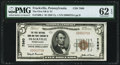 National Bank Notes:Pennsylvania, Frackville, PA - $5 1929 Ty. 1 The First NB & TC Ch. # 7860 PMG Uncirculated 62 EPQ.. ...