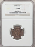 1908-S 1C Fine 12 NGC. NGC Census: (127/2714). PCGS Population: (279/3871). CDN: $100 Whsle. Bid for problem-free NGC/PC...