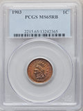 Indian Cents, 1903 1C MS65 Red and Brown PCGS. PCGS Population: (129/4). NGC Census: (167/11). CDN: $150 Whsle. Bid for problem-free NGC/...