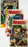 Silver Age (1956-1969):Superhero, The Avengers #32, 50, and 62 Group (Marvel, 1966-69) Condition: Average NM-.... (Total: 3 Comic Books)