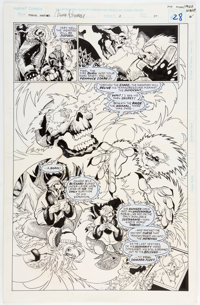 Pop Mhan and Mike Witherby Marvel Fanfare #3 Story Page 20 Original Art (Marvel, 1996)