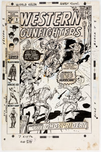 Dick Ayers Western Gunfighters #3 Cover Original Art (Marvel, 1970)