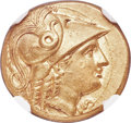 Ancients:Greek, Ancients: MACEDONIAN KINGDOM. Alexander III the Great (336-323 BC). AV stater (17mm, 8.55 gm, 12h). NGC MS★ 5/5 - 5/5, Fine Style....