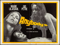"Ann and Eve (Miracle Films, 1970). Folded, Fine/Very Fine. British Quad (30"" X 40"") UK Title: Anybody's. Sexpl..."