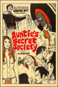 """Movie Posters:Adult, Auntie's Secret Society (Preferred Enterprises, 1973). Folded, Very Fine. One Sheet (28"""" X 42""""). Adult.. ..."""