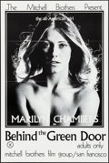 """Movie Posters:Adult, Behind the Green Door (Mitchell Brothers Film Group, 1972). Folded, Very Fine+. One Sheet (24"""" X 36""""). Adult.. ..."""