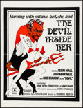 "Movie Posters:Adult, The Devil Inside Her (Leisure Time Booking, 1977). Folded, Very Fine. One Sheet (25"" X 32.5""). Adult.. ..."