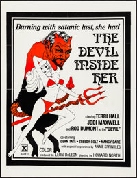 """The Devil Inside Her (Leisure Time Booking, 1977). Folded, Very Fine. One Sheet (25"""" X 32.5""""). Adult"""