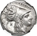 Ancients:Greek, Ancients: LUCANIA. Heraclea. Ca. 330-325 BC. AR stater (21mm, 7.87 gm, 9h). NGC Choice AU★ 5/5 - 5/5, Fine Style....