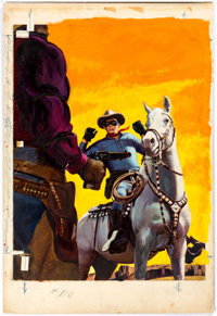 Don Spaulding Lone Ranger #110 Cover Original Art (Dell, 1957)