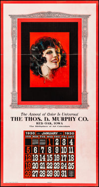 Thos. D. Murphy Co. Sample Calendar (Thos. D. Murphy Co., 1929). Folded, Fine/Very Fine. Series 30 R Oversize Sample Cal...