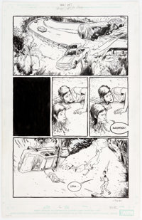 Farel Dalrymple and Paul Hornschemeier Omega: The Unknown #1 Story Page 7 Original Art (Marvel Comics, 2007)