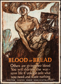 "World War I Propaganda (United States Food Administration, 1917). Rolled, Fine/Very Fine. Poster No. 16 (21"" X 29&q..."