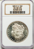 1880/9-S $1 MS64 Deep Mirror Prooflike NGC. NGC Census: (0/0). PCGS Population: (73/41). MS64