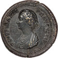 Ancients:Roman Imperial, Ancients: Faustina Junior (AD 147-175/6). AE medallion (40mm, 51.05 gm, 12h). XF, smoothing....