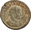 Ancients:Roman Imperial, Ancients: Maxentius (AD 307-312). AE medallion (32mm, 21.00 gm,12h). NGC AU 5/5 - 2/5, repatinated....