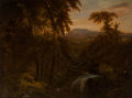 Paintings:Antique  (Pre 1900), American School (20th Century). Winding River at Dusk. Oil on canvas. 30 x 40 inches (76.2 x 101.6 cm). Signed indistinc...